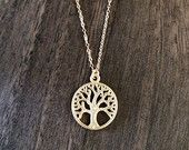 Tree of life gold necklace available at https://www.etsy.com/shop/JEMINIshop