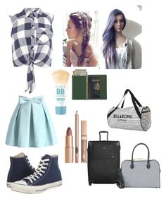 Trip by cece-griffin on Polyvore featuring polyvore, fashion, style, Miss Selfridge, Chicwish, Converse, Tumi, Balmain, Royce Leather, Billabong and Maybelline