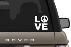 LOVE PEACE Vinyl Decal Graphic sticker for boat,car,truck,suv,van,motorcycle,auto,rear window,Helmet,cell phone,tablet, SKR078