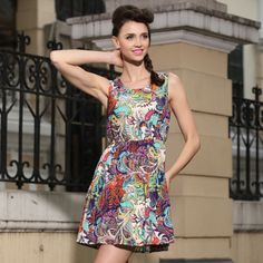 Buy Fashion Clothing - Sleeveless Slim Sexy Women's Short Dress - Party Dresses - Dresses