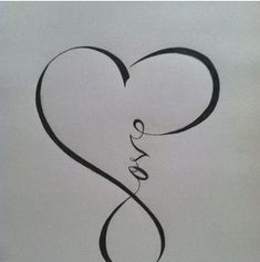 Love Infinity Heart Tattoo Design