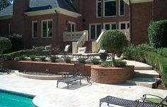 #travertine #brick #patio #pool #GA
