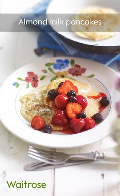 Go dairy-free and gluten-free this Pancake Day with our almond milk pancakes recipe and serve with fresh berries!