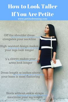 6 Best Fashion Tips on How to Look Taller - Jeans For Petite Women - Ideas of Jeans For Petite Women - Petite fashion and petite styling tips to make your proportion look better and legs look longer and make short girls look taller. Fashion For Petite Women, Petite Fashion Tips, Petite Outfits, Petite Dresses, Mode Outfits, Fashion Tips For Women, Fashion Advice, Fashion Websites, Fashion For Short Girls