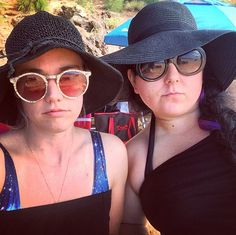 """This is Caroline and myself on the beach in Maui. I titled this one """"vampires at the beach."""""""
