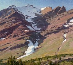 Glacier Park Mtn. Henkel by Clyde Aspevig
