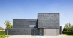 architect realisaties modern eenvoudig www.qubo.be gelijmde gevelsteen