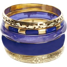 Monsoon Apache Bangles ($6) ❤ liked on Polyvore featuring jewelry, bracelets, accessories, pulseiras, pulseras, blue, bracelets bangle, hinged bracelet, hinged bangle and indian jewelry
