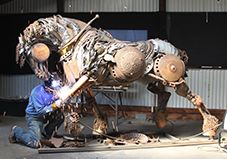 John Lopez Magnificent Scrap Iron Sculptures --- Do go and visit his website, his work is outstanding!