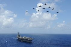 USS Dwight D. Eisenhower transits the Atlantic Ocean. | Flickr - Photo Sharing!