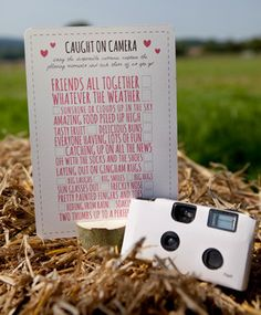 Keep guests entertained with this 'Caught on Camera' game and look forward to developing the results after the party.   http://www.postboxparty.com/collections/boxes/products/picnic-party    Photography by Fern Berresford