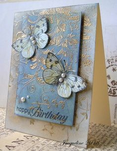 Butterfly card, embossing