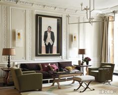 Ancient walls, modern furniture + an amazing painting