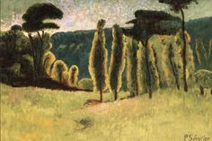 Pines and Poplars in a Field,by Paul Serusier