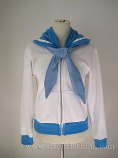 This comfy Sailor Mercury hoodie: | 24 Sailor Moon-Inspired Fashion That Are Too Beautiful For Words