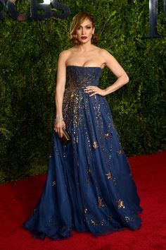 Pin for Later: See All the Red Carpet Glamour at the Tony Awards Jennifer Lopez In Valentino.