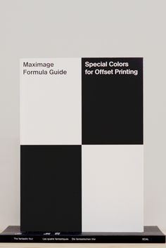 Maximage Formula Guide Second Edition ECAL/University of art and design, Lausanne, 2012 13 x 9.25 inches (33 x 23.5cm) $110Purchase