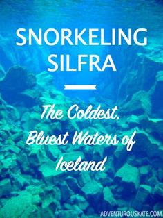 """One of the absolute most extreme things you can do in Iceland?  Snorkeling (or even diving!) Silfra. Also known as """"The Rift,"""" Silfra is home to astonishingly clear waters — some say the clearest in the world."""