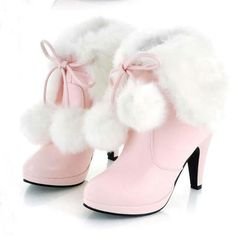 Ericdress Sweet Furry Tassels High Heel Boots Online store for the latest fashion & trends in women's collection. Shop affordable ladies' Dresses, Clothing, Shoes & Accessories with top quality. High Heel Boots, Heeled Boots, Shoe Boots, Ankle Boots, High Heels, Women's Boots, Platform Boots, Furry Boots, Wedge Boots