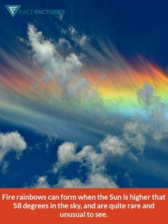Fire rainbow formation