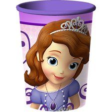 Sofia the First Party 16 oz Plastic Souvenir Cup. One Sofia the First Party 16 oz Plastic Souvenir Cup is washable and reuseable. A great party favor for all your guests! Find at http://www.ezpartyzone.com/pd-sofia-the-first-party-16-oz-plastic-souvenir-cup.cfm