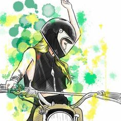 Bike girls by Chris (instagram starvin_artist28) #illustration #bikegirls #motorcyclesgirls   caferacerpasion.com