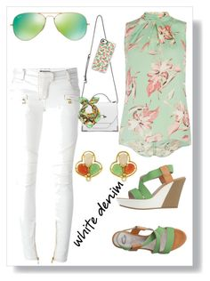 """""""White Denim"""" by mensy-hm ❤ liked on Polyvore featuring Dorothy Perkins, Guardiani Sport, Balmain, Mackage, Ray-Ban, Unpaired and Casetify"""