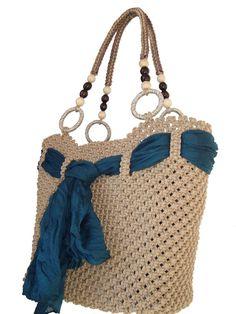 Macrame Bag by BagsMagicKnots on Etsy, $131.16
