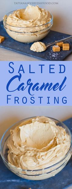 Salted Caramel Frosting – perfectly balanced buttercream made with sweet dulce de leche caramel! This is one of my all-time favorite recipes and it's perfect for frosting cakes and cupcakes. Use this (Baking Desserts Cupcakes) Buttercream Recipe, Frosting Recipes, Cupcake Recipes, Cupcake Cakes, Dessert Recipes, Recipes Dinner, Lunch Recipes, Appetizer Recipes, Dinner Ideas