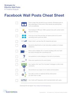 Facebook wall posts cheat sheet: What, when, and how to post on Facebook to increase fan engagement