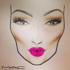 Mac Face Charts, Hand Makeup, Makeup Face Charts, Magical Makeup, Neutral Makeup, Photoshoot Makeup, Lovely Eyes, Makeup Tattoos, Face Facial