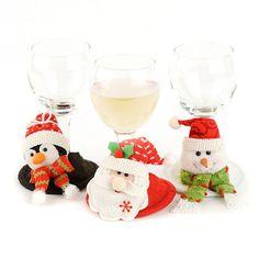 Christmas Wine Glass Covers