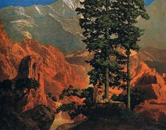 Maxfield Parrish 'Solitude' 1911 by Plum leaves, via Flickr