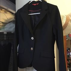 Ivanka Trump black blazer Beautiful blazer with gold buttons and bow back. Never worn. Ivanka Trump Jackets & Coats Blazers