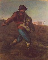 Jean-François Millet - El sembrador, 1850. Museo de Bellas Artes de Boston.