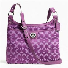 Purple Coach crossbody - in case I ever splurge