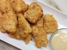 Baked Chicken Nuggets #ChickenBreast #PankoCrumbs