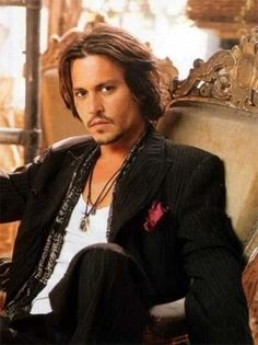 Male Celebrities Fashion. Johnny Depp in downtown luxe attitude.
