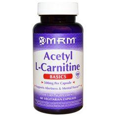 MRM, Acetyl L-Carnitine, 500 mg, 60 Veggie Caps
