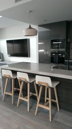 Beautiful grey tones kitchen #feliciabonaccidesign