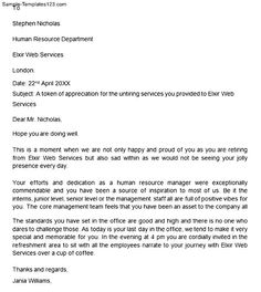 Retirement letters to employer northurthwall retirement letters to employer thecheapjerseys Image collections