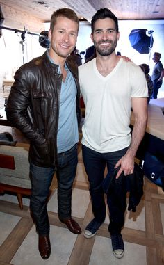 Glen Powell & Tyler Hoechlin from SXSW 2016: Star Sightings  The hotties stop by the Samsung Studio while promoting their movie Everybody Wants Some.