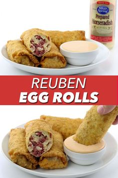 You don't have to wait until St. Patrick's Day to enjoy these homemade Reuben Egg Rolls! They're delicious all year round!