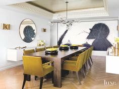 10 Dazzling Dining Room Ideas From LuxeSource To Copy Right Now | dining room ideas, dining room chairs ,dining room table |   #diningroomdesign #diningroomfurniture #luxesource    See more: http://diningroomideas.eu/dazzling-dining-room-ideas-luxesource-copy-right/