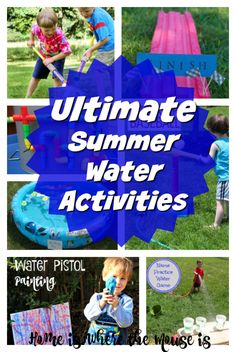 Summer is all about having fun and getting wet. You can have tons of wet and wild fun right in your own backyard with these cool summer water activities.
