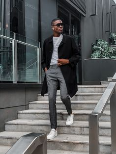 Style by lesleympofu_ Normcore, Mens Fashion, Photo And Video, Lifestyle, People, Model, Blue, Coats, Instagram