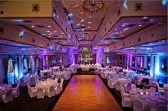 Ballroom Uplighting- make any room any color you want. Yes, please