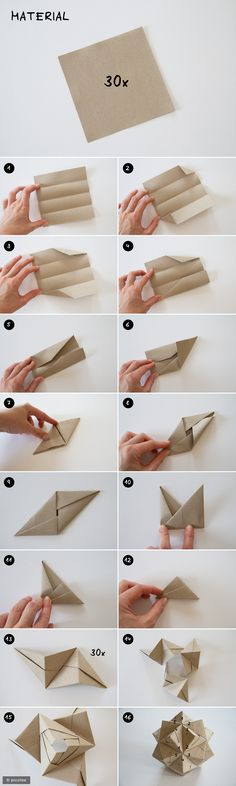 DIY Sonobe Stern mit Pünktchen picotee / Sonobe-Stern Tutorial The post DIY Sonobe Stern mit Pünktchen appeared first on Paper Ideas. Diy Origami, Origami Design, Vase Origami, Origami And Kirigami, Paper Crafts Origami, Origami Tutorial, Diy Paper, Paper Crafting, Diy Tutorial