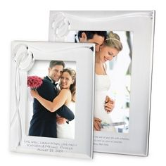 Personalized Double Rings Frames , Add Your Message