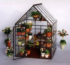 Miniatures ❀⊱Small Wonders⊰❀ Love this mini greenhouse
